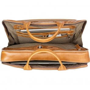 dbramante1928 Heren Laptoptas 16 inch Kronborg Tan Open