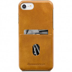 dbramante1928 Tune cc Leather Backcover iPhone 8/7/6 Hoesje Tan Achterkant
