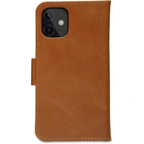 dbramante1928 Leren Wallet Hoesje iPhone 12 mini Lynge Tan Achterkant