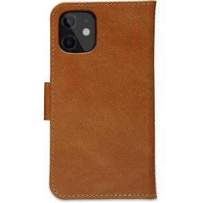 dbramante1928 Leren Wallet Hoesje iPhone 12 mini Lynge Tan Achterkant