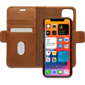 dbramante1928 Leren Wallet Hoesje iPhone 12 mini Lynge Tan