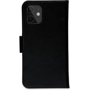 dbramante1928 Leren Wallet Hoesje iPhone 12 mini Lynge Zwart Achterkant