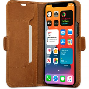 dbramante1928 Leren Wallet Hoesje iPhone 12 Pro Max Copenhagen Tan Open