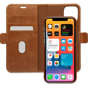 dbramante1928 Leren Wallet Hoesje iPhone 12 Pro Max Lynge Tan Open
