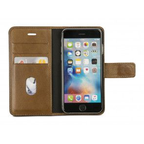 dbramante1928 Lynge 2 Leather Wallet iPhone 7 Tan Open