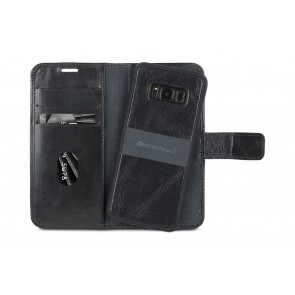 dbramante1928 Lynge 2 Leather Wallet Samsung S8+ Hoesje Zwart Open