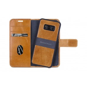 dbramante1928 Lynge 2 Leather Wallet Samsung S8+ Hoesje Tan Open