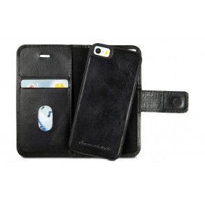 dbramante1928 Lynge Leather Wallet iPhone 5/5S/SE Hoesje Black Open