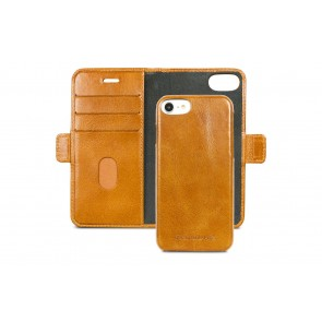 dbramante1928 Lynge Leather Wallet iPhone 8/76 Series Tan Open
