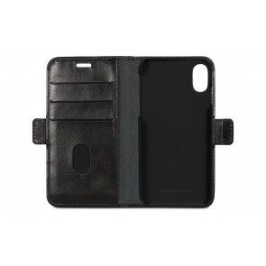 dbramante1928 Lynge Leather Wallet iPhone X / XS Black Open