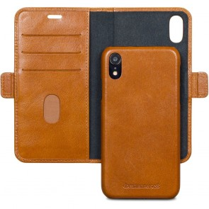 dbramante1928 Lynge Leather Wallet iPhone XR Tan Open
