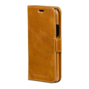 dbramante1928 Lynge Leather Wallet iPhone X / XS Tan Voorkant