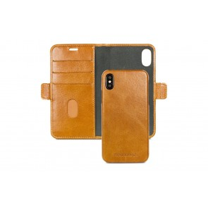 dbramante1928 Lynge Leather Wallet iPhone X Tan Open