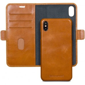 dbramante1928 Lynge Leather Wallet iPhone XS Max Tan Open
