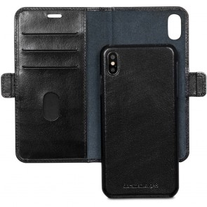 dbramante1928 Lynge Leather Wallet iPhone XS Max Zwart Open