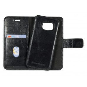 dbramante1928 Lynge Leather Wallet Samsung S7 Black open achterkant cradle
