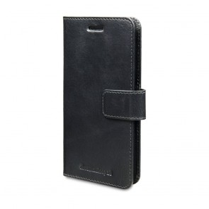 dbramante1928 Lynge Leather Wallet Samsung S7 Edge Black voorkant schuin rechts