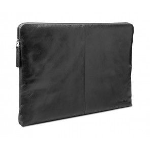 dbramante1928 Skagen Leather Sleeve MacBook 12 inch Black schuin voorkant links