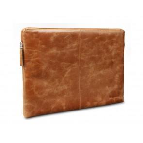 dbramante1928 Skagen Leather Sleeve 14 inch Tan schuin voorkant links