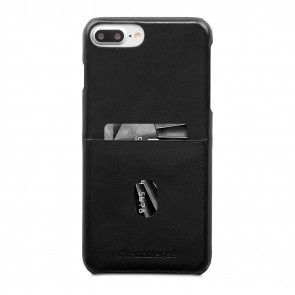 dbramante1928 Tune cc Leather Backcover iPhone 8/7/6 Plus Hoesje Black Achterkant met pasje