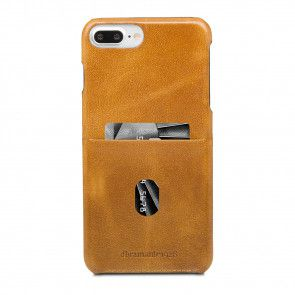 dbramante1928 Tune cc Leather Backcover iPhone 8/7/6 Plus Hoesje Tan Achterkant met pasje