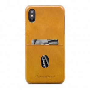 dbramante1928 Tune cc Leather Backcover iPhone X / XS Tan Achterkant
