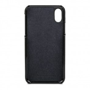 dbramante1928 Tune Leather Backcover iPhone X / XS Black Binnenkant
