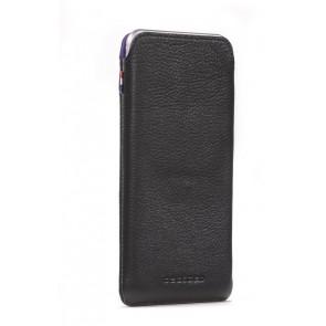 Decoded Leather Pouch Strap iPhone 6 Plus Black Voor- zijkant