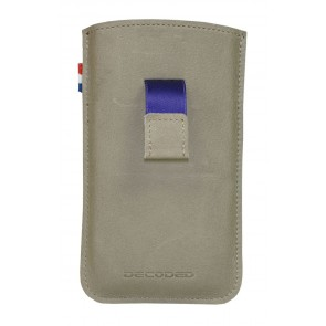 Decoded iPhone 4/4S Leather Pouch Strap Grey