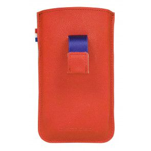 Decoded iPhone 4/4S Leather Pouch Strap Red