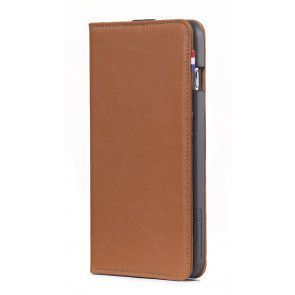 Decoded iPhone 6 Plus Leather Wallet Case Brown Voorkant