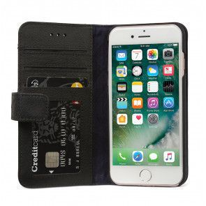 Decoded Leather 2 in 1 Wallet Case iPhone 7/6S/6 Black Open