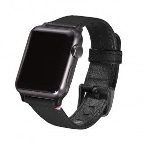 Decoded Leather Apple Watch Strap 38mm Black
