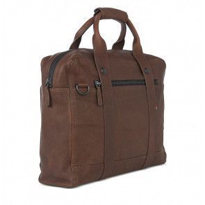 Decoded Leather Briefcase 15 inch Brown