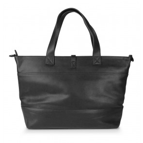 Decoded Leather Lady Shopper 15 inch Black Achterkant