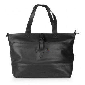 Decoded Leather Lady Shopper 15 inch Black Voorkant
