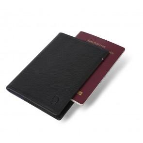 Decoded Leather Paspoort Houder Zwart Voorkant