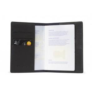 Decoded Leather Paspoort Houder Zwart Open/Binnenkant