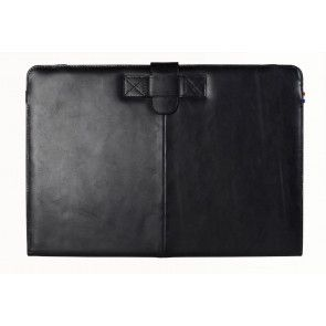 Decoded Leather Sleeve Strap MacBook Air 13 inch Black Vfoorkant