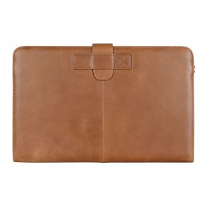 Decoded Leather Sleeve Strap MacBook Air 11 inch Vintage Brown Voorkant
