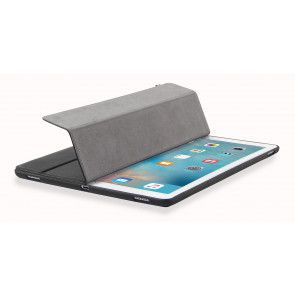 Decoded Leather Slim Cover iPad Pro Black cover half open