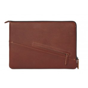 Decoded Leather Slim Sleeve MacBook Pro 13 inch / Pro Retina 13 inch Brown Voorkant