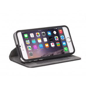 Decoded iPhone 6 Leather Surface Wallet Black Staand