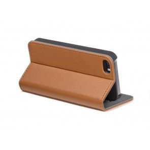 Decoded iPhone 6 Leather Surface Wallet Brown V2 Stand