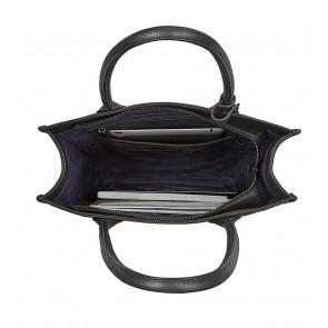 Decoded Leather Lady Tote 13 inch Black Binnenkant