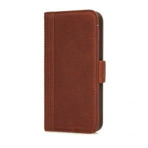 Decoded iPhone 5/5S/SE Leather Wallet Case met magneetsluiting Brown Voorkant
