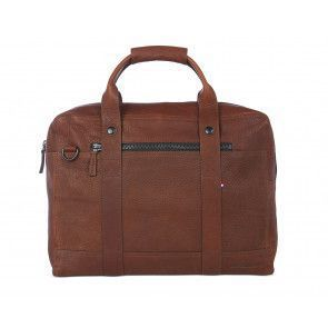 Decoded Leather Briefcase 15 inch Brown Voorkant