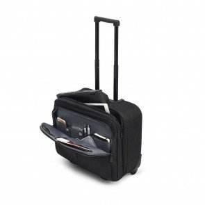Dicota Laptop Trolley 14-15.6 inch Eco Multi Roller SCALE Zwart Open