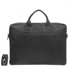 DSTRCT Fletcher Street Business Bag Black 17,3 inch Voorkant