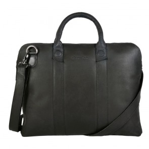 DSTRCT Fletcher Street Business Bag Black 13 inch Voorkant